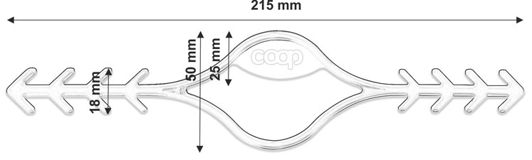 face mask ear strap extension hook technical drawing