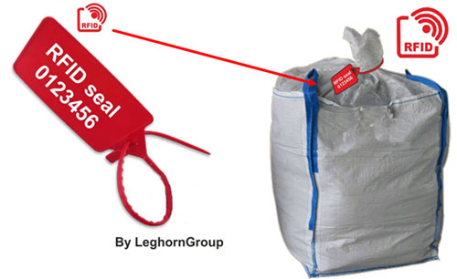 rfid seals management traceability bags example