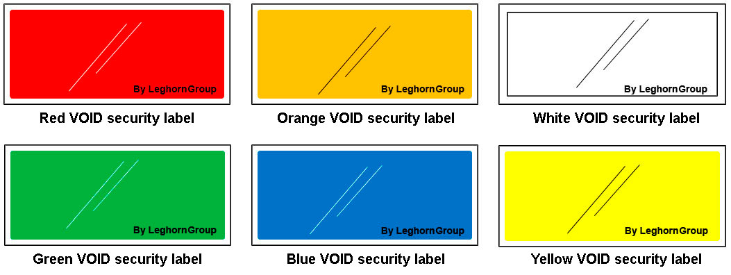 security labels for airports airlines colours