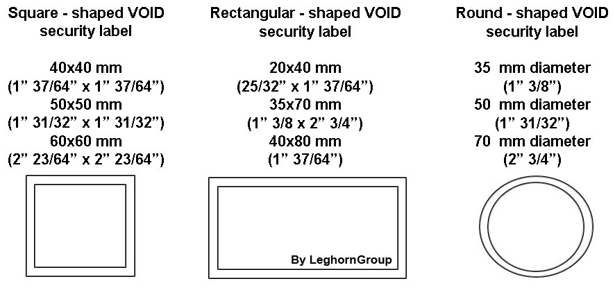security labels for airports airlines technical drawing